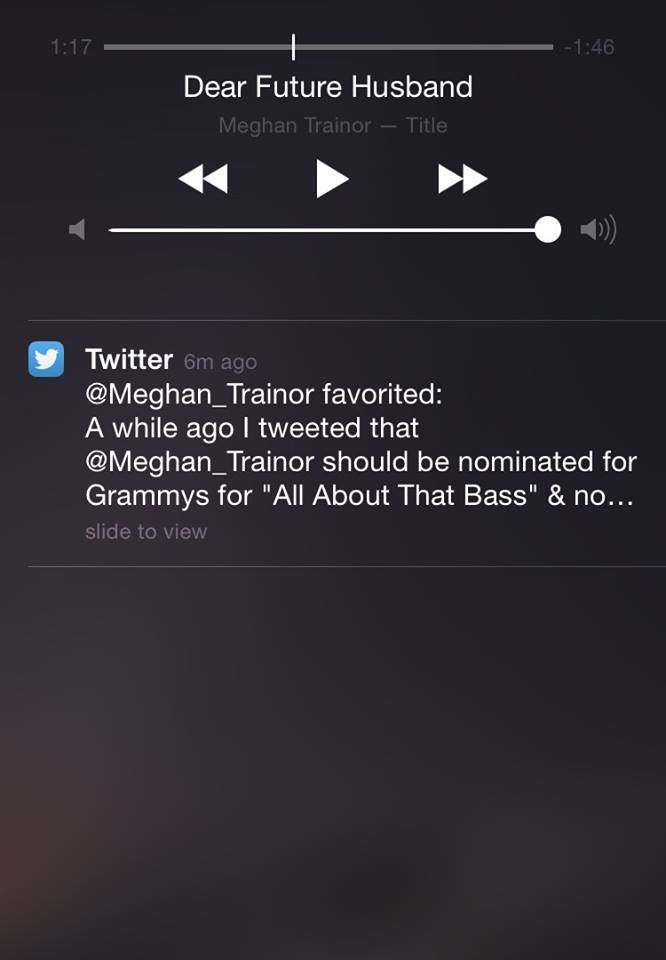 When you're casually rocking out to Meghan Trainor's music and she favorites one of your tweets clearly means the two of you are best friends...