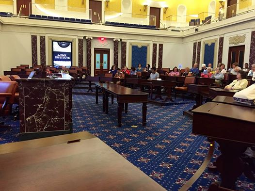My view from the Senate Chamber replica.  It was so beautiful.